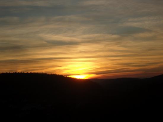 Coucher de soleil sur Rancennes.